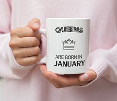 Special Birthday Gifts, Birthday Gifts For Her, February Birthday, Born In February, Popular Colors, Queen, Ceramic Mugs, Tea Mugs, Get One