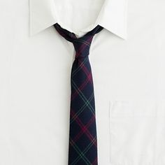 Northfield wool tattersall tie -$69.50