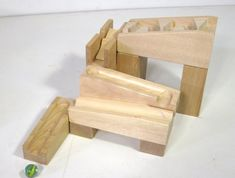 Modular marble machine Marble Toys, Marble Machine, Stool, Games, Furniture, Home Decor, Toys, Wood, Gaming