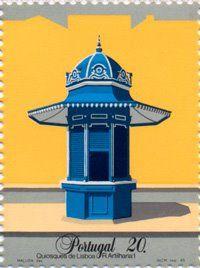 Maluda e os seus Quiosques de Lisboa em selos