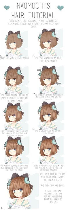 Hair coloring tutorial by naomochi.deviantart.com on @DeviantArt