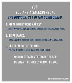 Yup, you are a salesperson. » Small Business Insight for the Artist Within Hampton Roads Creative
