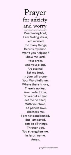 Prayer for anxiety and worry