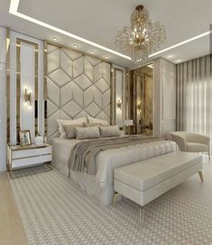 Room Design Bedroom, Luxury Bedroom Design, Master Bedroom Interior, Modern Master Bedroom, Home Room Design, Luxury Home Decor, Luxury Interior Design, Home Decor Bedroom, Bathroom Wall Decor