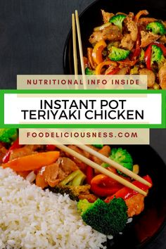 Looking for some Asian Cuisine, Chicken recipes, Teriyaki Sauce ? I've got a collection here of the best Instant Pot Teriyaki Chicken - Whole30 Chicken Salad, Healthy Chicken, Chicken Recipes, Tofu Recipes, Delicious Recipes, Crockpot Recipes, Vegetarian Recipes, Healthy Recipes, Instant Pot Pressure Cooker