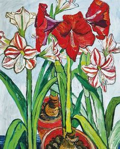 Easy To Grow Houseplants Clean the Air John Bratby Amaryllis 1962 - Still Life Quick Heart John Bratby, Easy To Grow Houseplants, Amaryllis, Matisse, Painting Inspiration, Painting & Drawing, Flower Art, Still Life, Oil On Canvas