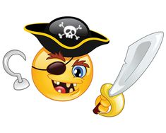 Pirate emoticon Copy Send Share Send in a message, share on a timeline or copy and paste in your comments. Symbols Emoticons, Funny Emoticons, Emoji Symbols, Funny Emoji, Cute Emoji, Fb Smileys, Emoticon Faces, Smiley Faces, Pirate Face