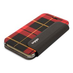 【【iPhone6 ケース】Fashion Flip Case CONRAN Red Checker】端末を装着する部分にはポリカーボネート素材を採用。 フタ部分を…