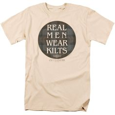 Outlander Real Men Wear Kilts Cream T-Shirt