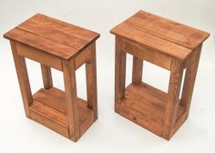 Handmade Wooden Bedside Tables. Reclaimed Pallet Wood. Rustic & Shabby Chic Table For The Home, Living Room Or Bedroom