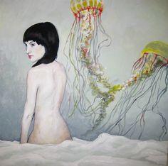 Jellyfish Nude by Krista Lawson.  Acrylic.  2011 Winnipeg Timeraiser.