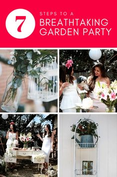 Looking for garden bridal shower ideas? The tips and tricks in this article will have you pulling off an incredibly beautiful party that you guests will ADORE! Outdoor Bridal Showers, Garden Bridal Showers, Bridal Shower Party, Garden Party Decorations, Wedding Reception Decorations, Garden Wedding Inspiration, Wedding Ideas, Bachelorette Party Planning, Outdoor Birthday