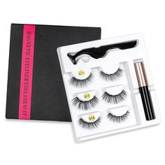 Eyeliner liquid magnetic 5 cilia magnetic and magnetic false eyelashes Natural Eyelashes, Fake Lashes, Mink Eyelashes, Eyelash Kit, Eyelash Case, Online Shopping, Mink Eyelash Extensions, Shops, Magnetic Lashes
