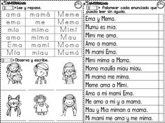 Material de LECTOESCRITURA para alumnos con dificultades - Imagenes Educativas Spanish Teaching Resources, Spanish Language Learning, Teaching Activities, Teaching Kids, Kids Learning, Elementary Spanish, Spanish Classroom, 1st Grade Worksheets, First Grade Classroom