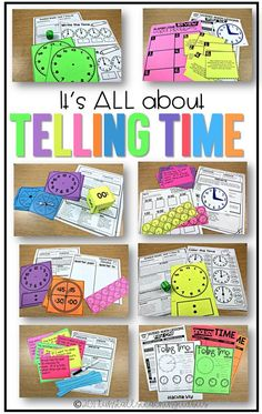 I love these ideas for teaching how to tell time, and there are different ideas for kindergarten, first, and second grades!
