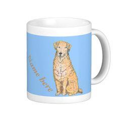 Golden Labrador Mugs, customize, add name
