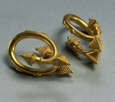 Greek   Pair of gold spiral earrings   ca. 450 - 400 BC   Image ©Bridgeman Art Library