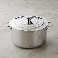 Le Creuset Stainless-Steel Deep Casserole with Lid #williamssonoma