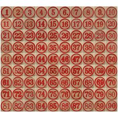 Bingo Number Sets