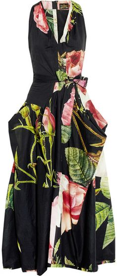 Vivienne Westwood Anglomania Floral Gladiator RosePrint Cotton Dress