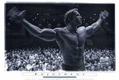 Amazon.com: (27x40) Mr Olympia Arnold Schwarzenegger Enjoyment Movie Poster Print: Home & Kitchen