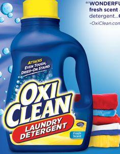 Nuevo Cupón de ALTO VALOR $3.00/1 Oxi Clean Detergente!