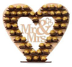 "ASVP Shop ® ""Mr & Mrs"" Ferrero Rocher Heart Tree Wedding Display Stand Centerpiece ASVP SHOP http://www.amazon.co.uk/dp/B00ZFMIPLE/ref=cm_sw_r_pi_dp_UKY0vb1A01S72"