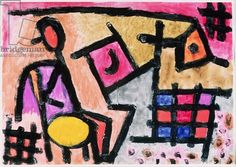 Paul Klee - Antiquated industry, 1940 (no 295)(w/c & coloured paste on paper)