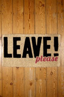 Leave Please Doormat