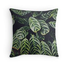 Chic designer throw pillow by #weirdoodle. Shop Now! #homedecor #throwpillows #throwpillow #cushioncover #cushion #designer #hipster #chic #indie #green #black #leaves #leaf #plants #pattern #nature #prints #fashion #forher #forhim #homeaccessories #tropical