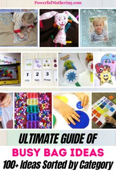 Do you love busy bags? These fun-filled bags full of reusable activities for your child will keep them curious and creative! With over a hundred and more ideas sorted by category, these unique ideas will keep your child happy and engaged! I am sure your little one will find this busy bag super fun! #diycrafts #kidactivties Creative Activities For Kids, Toddler Activities, Learning Activities, Easy Arts And Crafts, Crafts For Kids, Diy Crafts, Busy Bags, To Color, Business For Kids