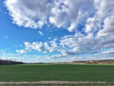 Sümeg felé a kéken #hungary #hiking #spring #fields #clouds #nature