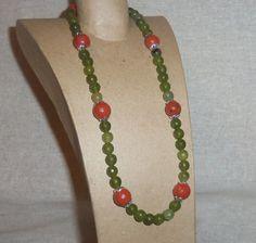 100 Genuine RED and GREEN JASPER Gemstone by PastsPresents on Etsy, $22.99