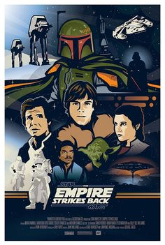 Another amazing fan poster for The  Empire Strikes Back.