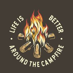 Camp burning campfire with flame for camping design or t-shirt print #bonfire #camping #print #flame #travel #campfire #outdoor #camp #trip #tourism #activity #adventure #expedition #explore #journey #mountain #forest #nature #luxury vacation #dream vacations Jdm Stickers, Shirt Print, T Shirt, Pencil Art Drawings, Skull Art, Apparel Design, Dream Vacations, Better Life, Printed Shirts