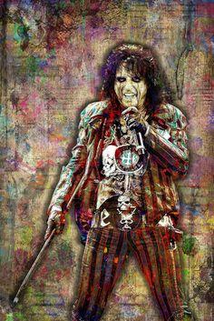 Alice Cooper Poster, Alice Cooper Band Portrait Gift, Alice Cooper Col                      – McQDesign