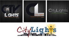 City Lights logo design concepts
