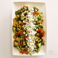 Absolute Best Summer Pasta Salad - checkout the blog for the recipe #healthy #salad #summersalads #pastasalad #homecooking
