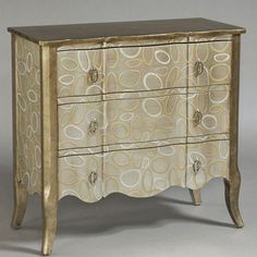 Modern Mojo Accent Chest in Silver Gold