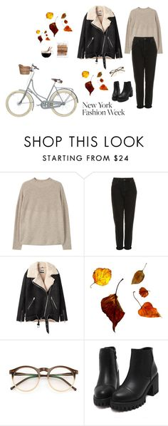"""""""autumn look"""" by djulia-tarasova ❤ liked on Polyvore featuring MANGO, Topshop, Acne Studios, Wildfox and Luminarc"""