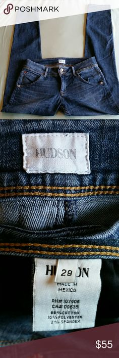 "Hudson Collin Flap Skinny Jeans size 29 32"" inseam. Excellent condition. Hudson Jeans Jeans Skinny"