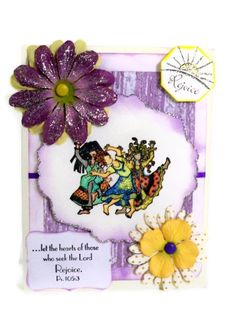 ...let the hearts of those who seek the Lord Rejoice.  Ps. 105.3  - 3D Christian Greeting Card   #Christian #handmade #cards #rejoice