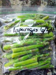 Krista's Kitchen: How to Freeze Asparagus