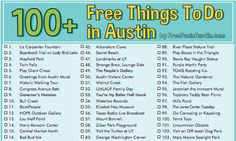 100  FREE Things to do in Austin Checklist