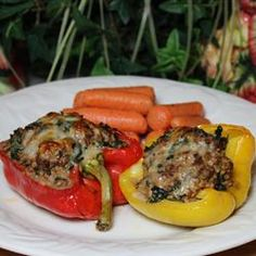 Beef and Couscous Stuffed Baby Bell Peppers Recipe - Allrecipes.com - Or just stuff large peppers and make a delicious entree out of it @Beef. It's What's For Dinner.