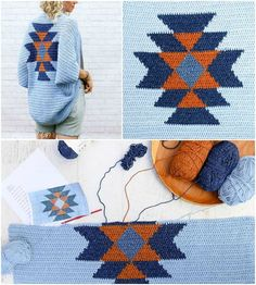 Crochet Navajo Blanket Shrug Pattern - Crochet Shrug Patterns - 20 Free Unique Designs - DIY & Crafts