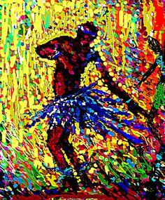 """CELEBRATION""  Digital art of a dancer by Nigerian artist, Peter Akinwumi."