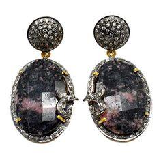 Silvesto Jaipur Rodonite & Cubic Zirconia 925 Sterling Silver Gold Plated Earrings Jewelry PG 4381 Silvesto Jaipur http://www.amazon.com/dp/B01BLBK0E2/ref=cm_sw_r_pi_dp_5gAUwb1NX2YZQ