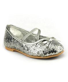 Loving this The Doll Maker Silver Glitter Ballet Flat on #zulily! #zulilyfinds