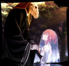 Elias Ainsworth and Chise Hatori. The Ancient Magus' Bride Mahou Tsukai no Yume Got Anime, Anime Love, Manga Anime, Anime Art, Elias Ainsworth, Chise Hatori, Tamako Love Story, The Ancient Magus Bride, Estilo Anime